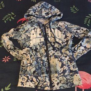 Aeropostale Shirts & Tops - Floral zip up hoodie sweater
